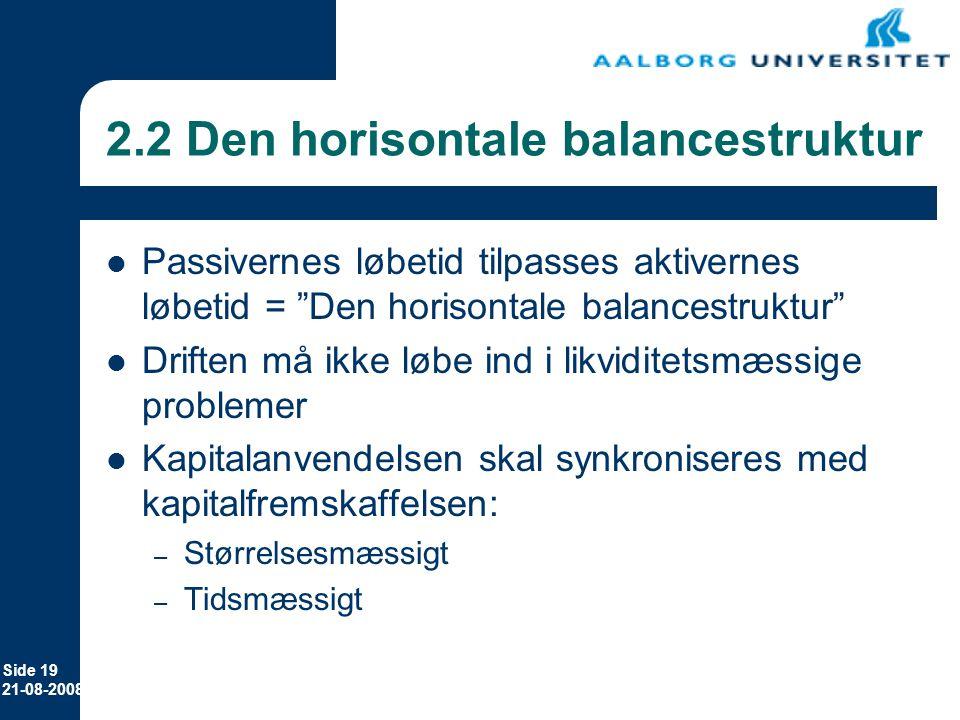 2.2 Den horisontale balancestruktur