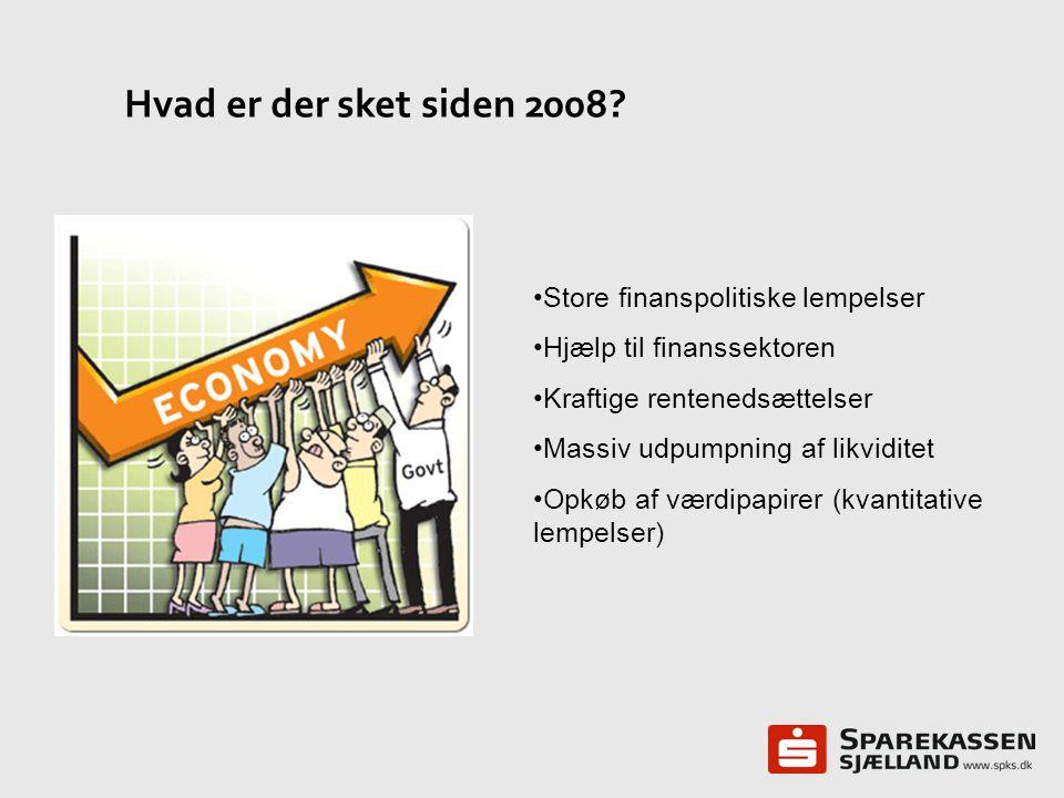 Hvad er der sket siden 2008 Store finanspolitiske lempelser