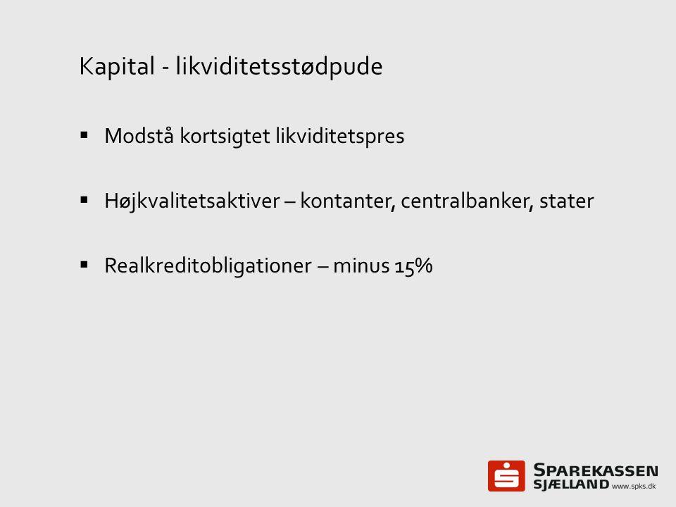 Kapital - likviditetsstødpude