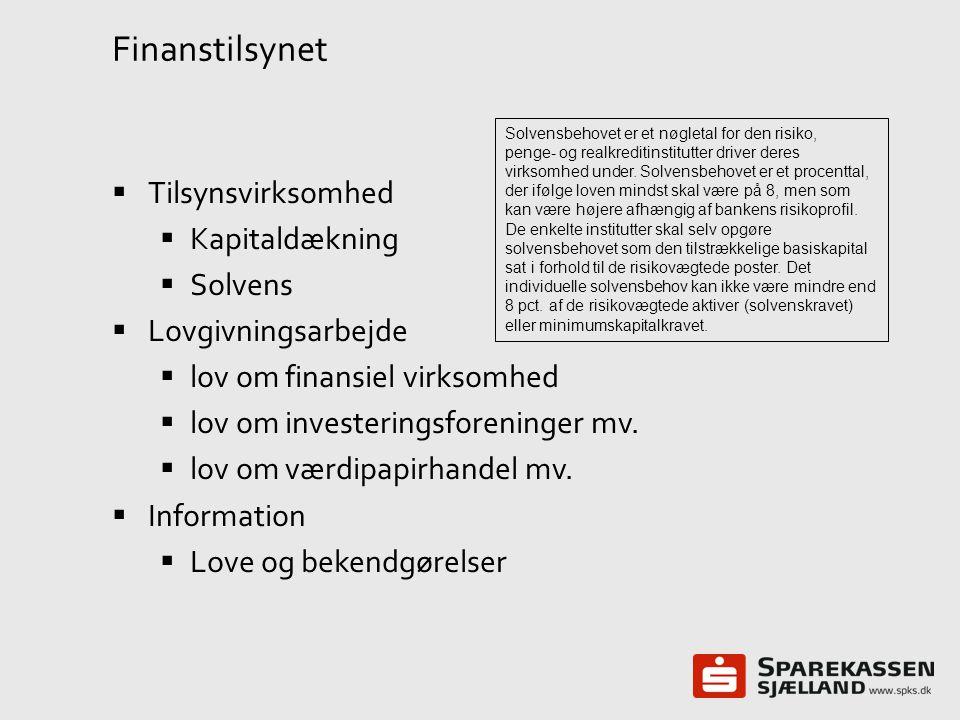 Finanstilsynet Tilsynsvirksomhed Kapitaldækning Solvens