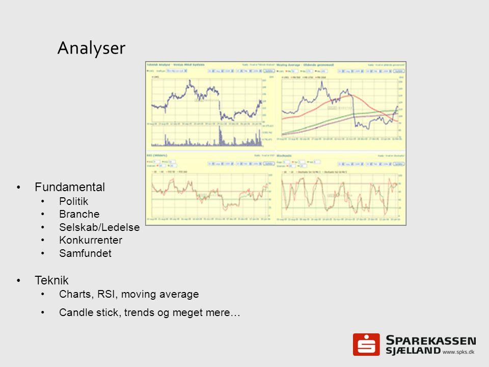 Analyser Fundamental Teknik Politik Branche Selskab/Ledelse