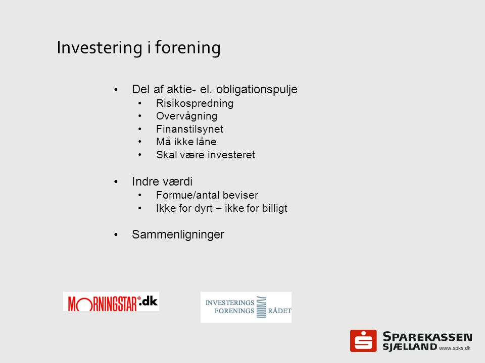Investering i forening