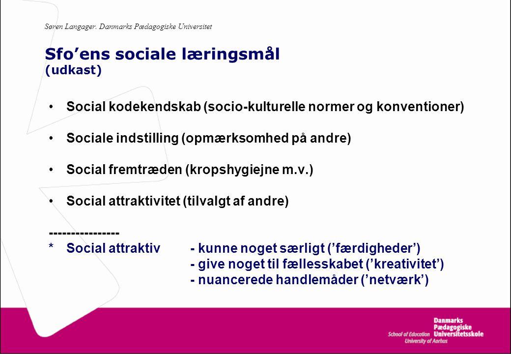 Social kodekendskab (socio-kulturelle normer og konventioner)