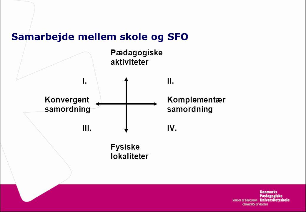 Samarbejde mellem skole og SFO