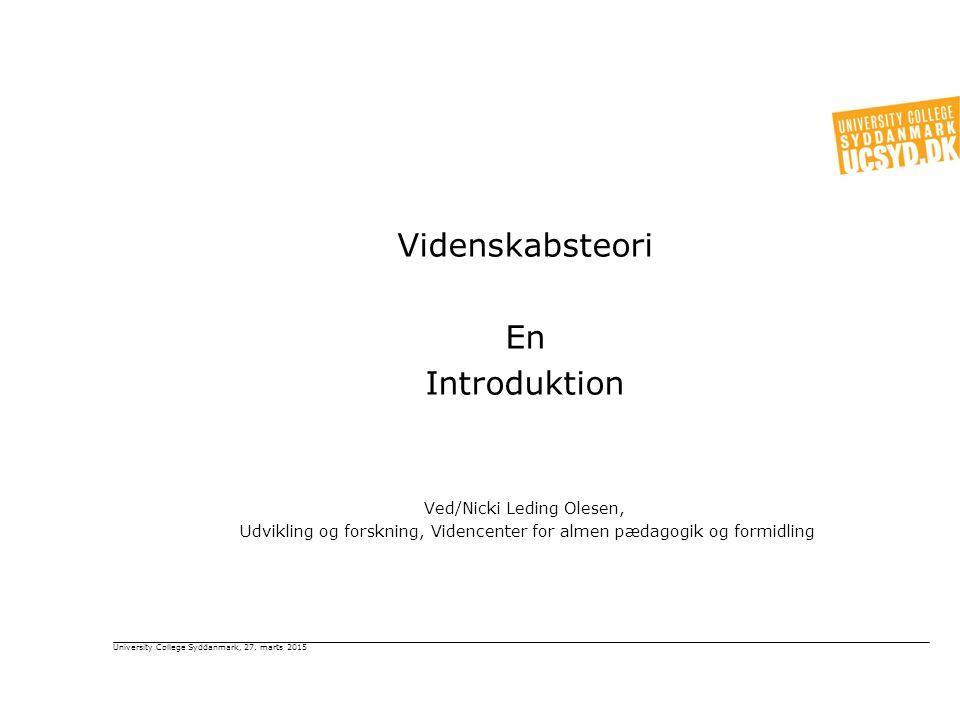 Videnskabsteori En Introduktion Ved/Nicki Leding Olesen,