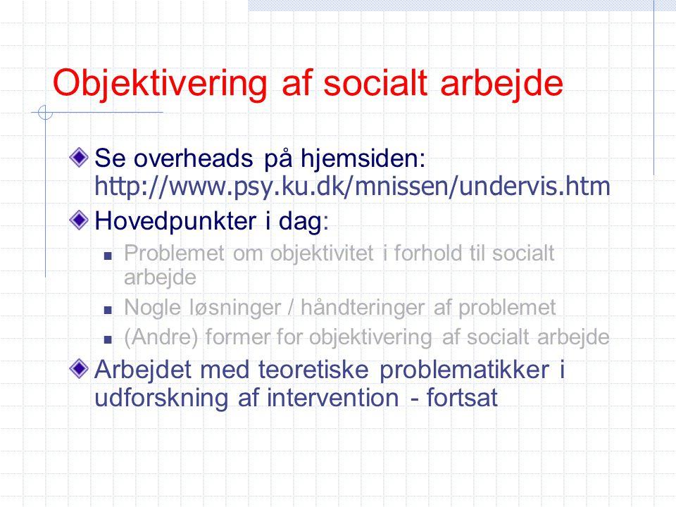 Objektivering af socialt arbejde