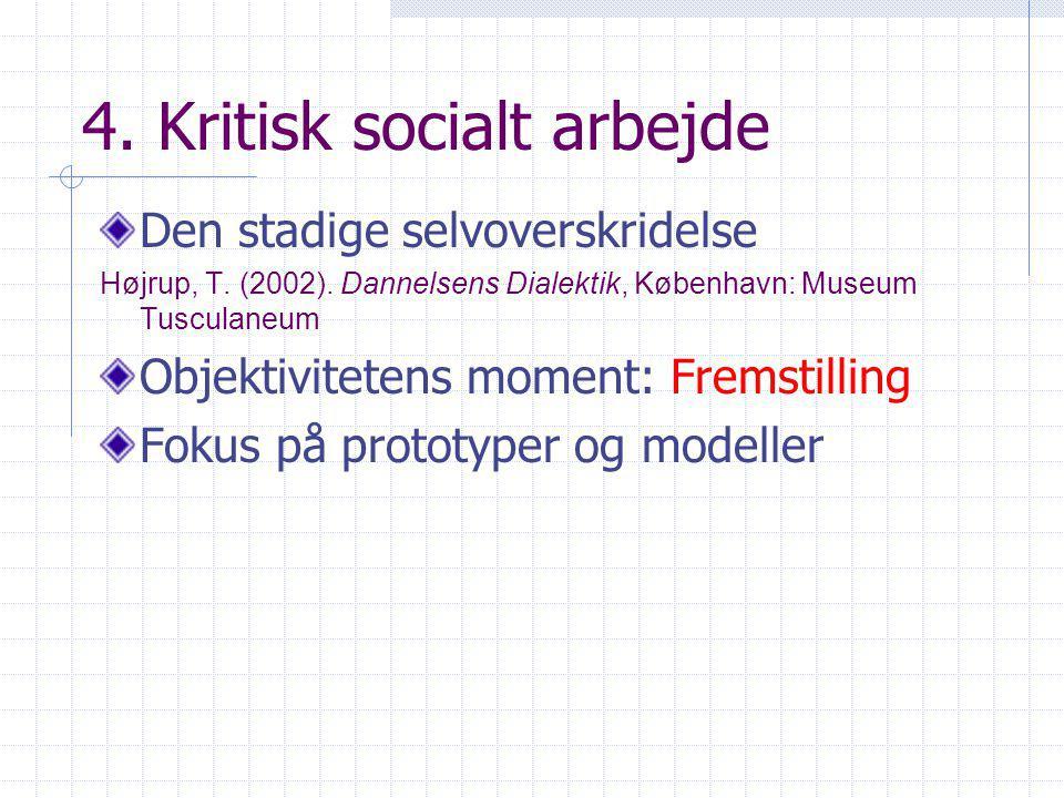 4. Kritisk socialt arbejde