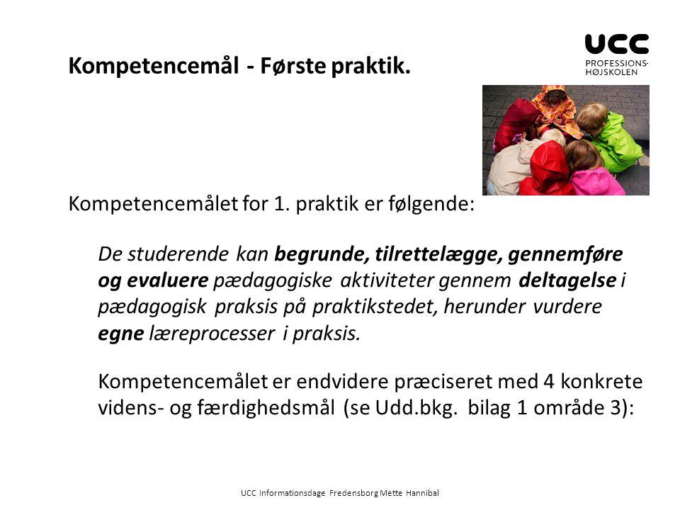 Kompetencemål - Første praktik.