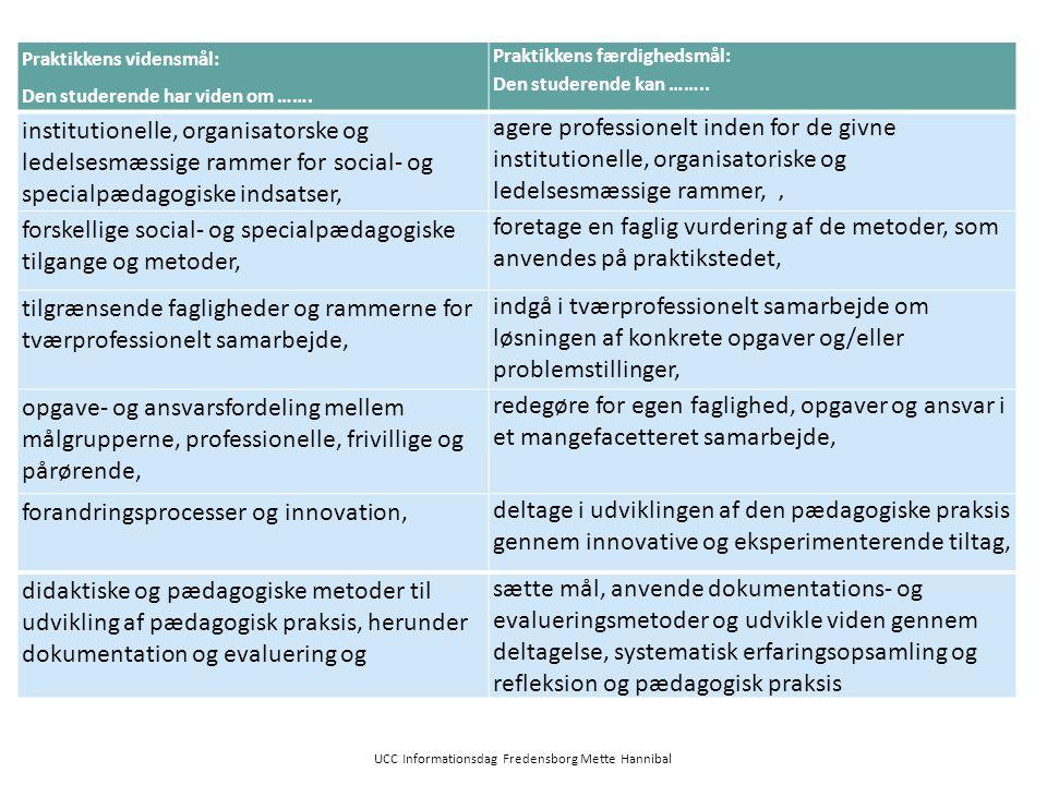 UCC Informationsdag Fredensborg Mette Hannibal