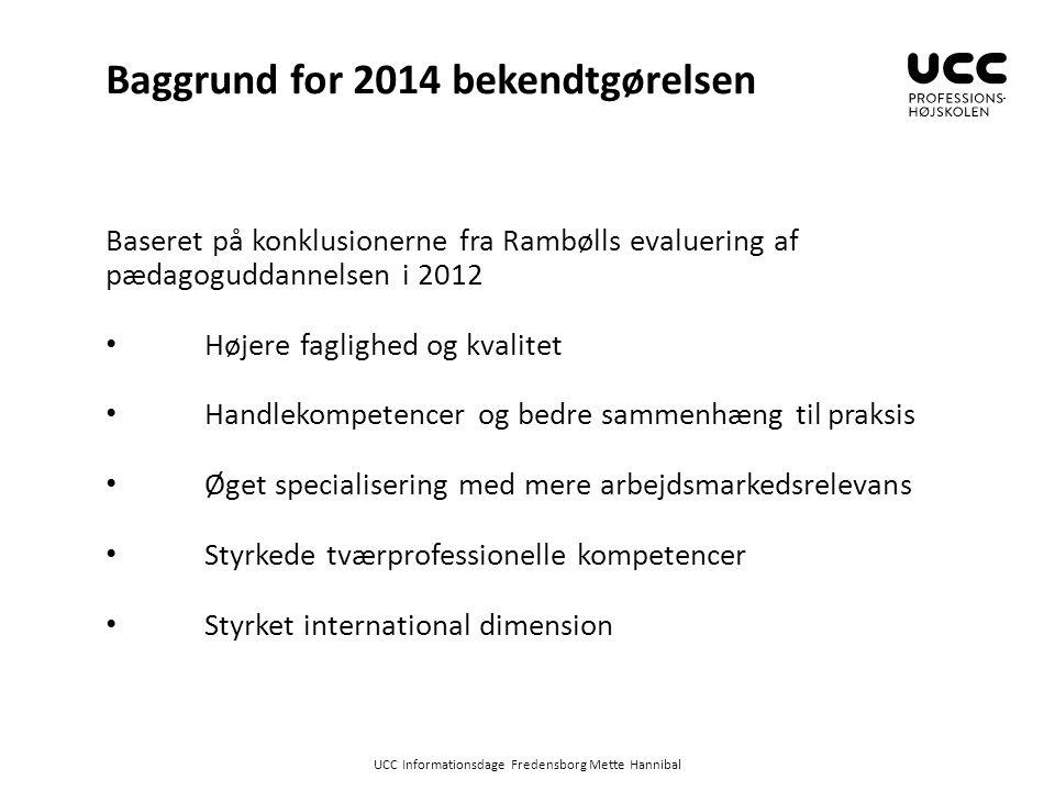 Baggrund for 2014 bekendtgørelsen
