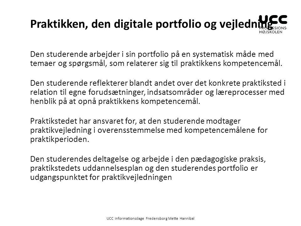 Praktikken, den digitale portfolio og vejledning