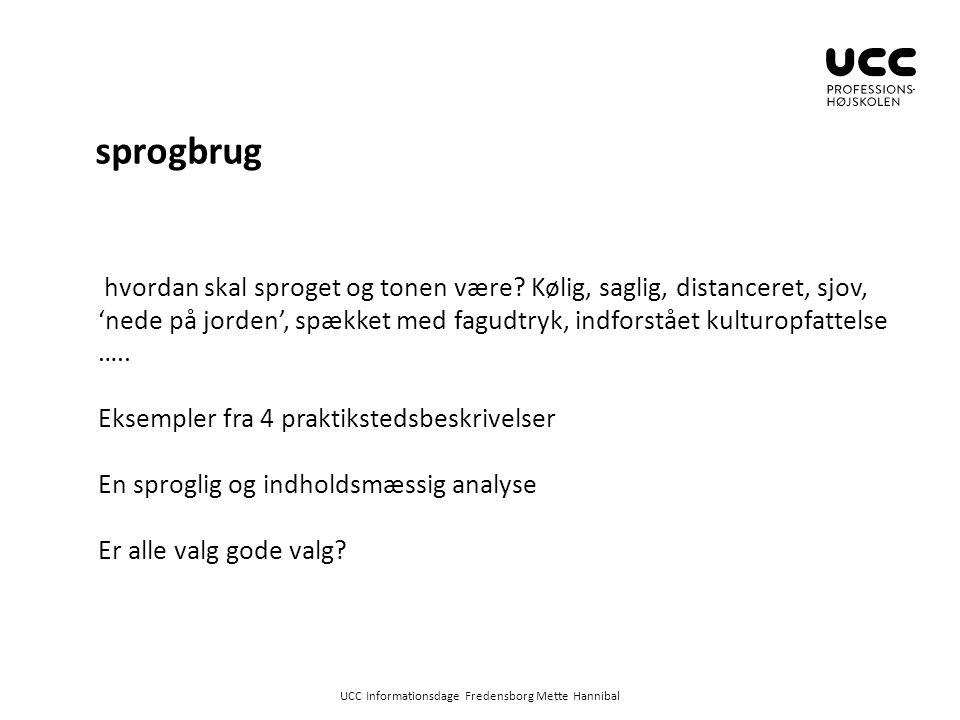 UCC Informationsdage Fredensborg Mette Hannibal