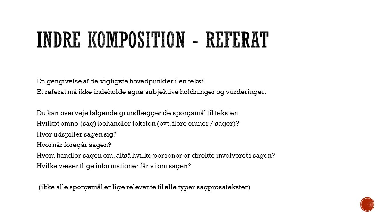Indre Komposition - Referat