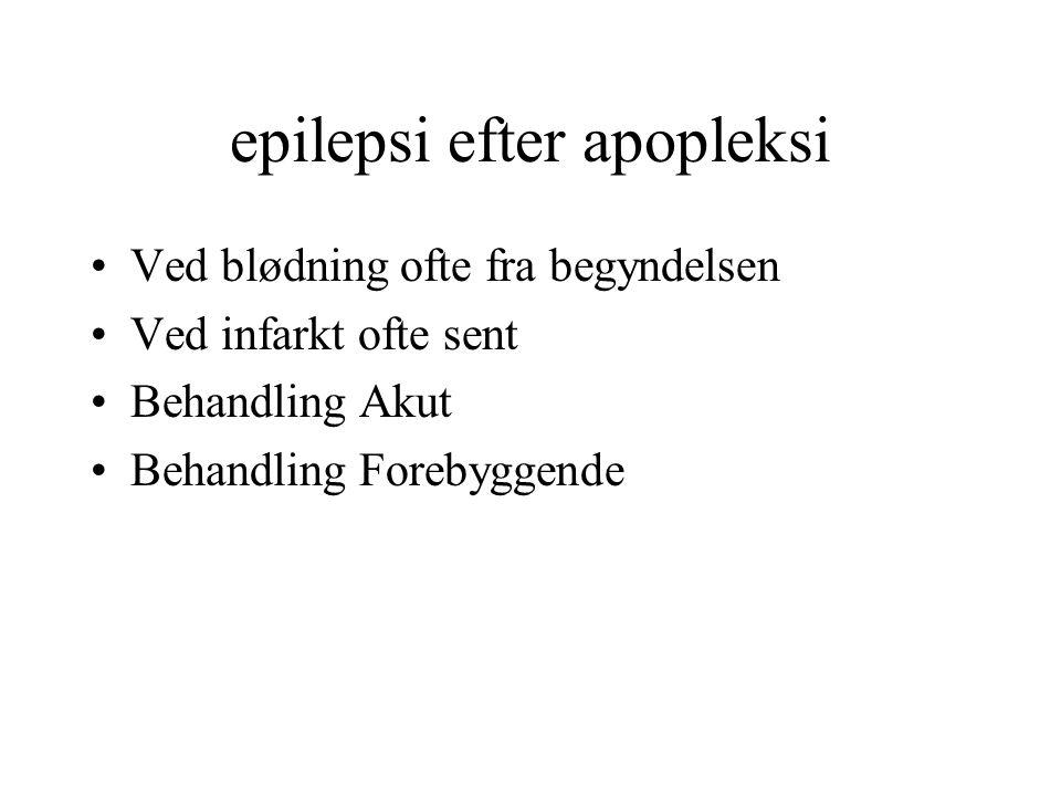 epilepsi efter apopleksi