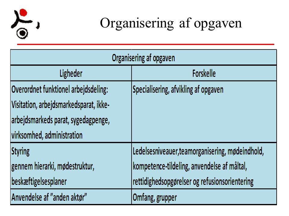 Organisering af opgaven