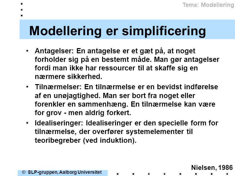Modellering er simplificering