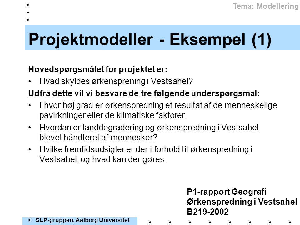 Projektmodeller - Eksempel (1)