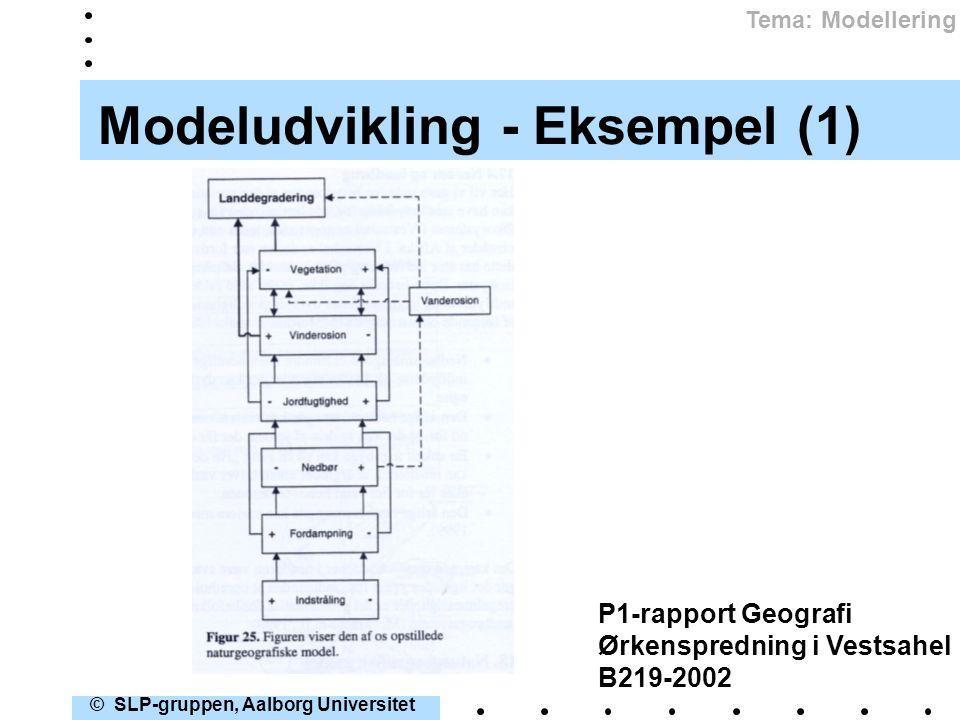 Modeludvikling - Eksempel (1)