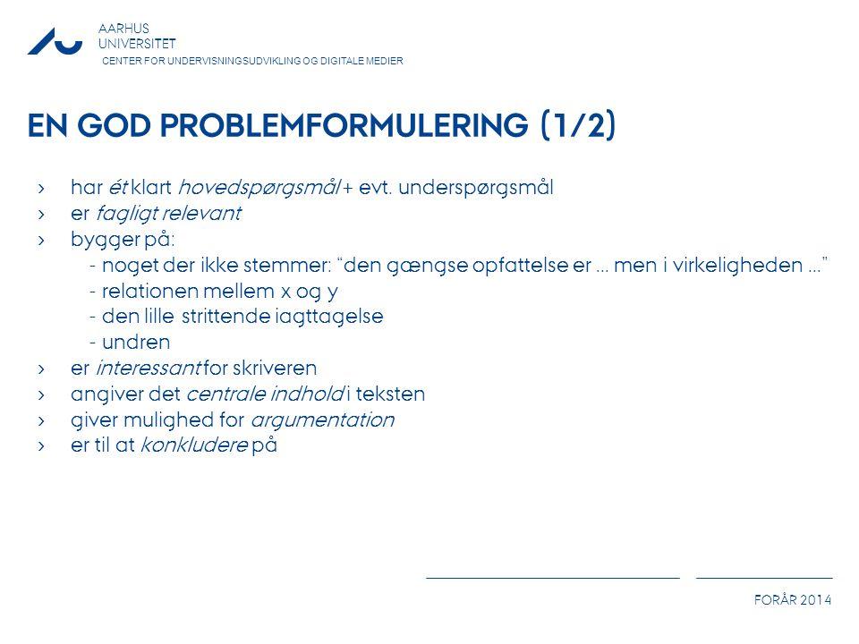 En god problemformulering (1/2)