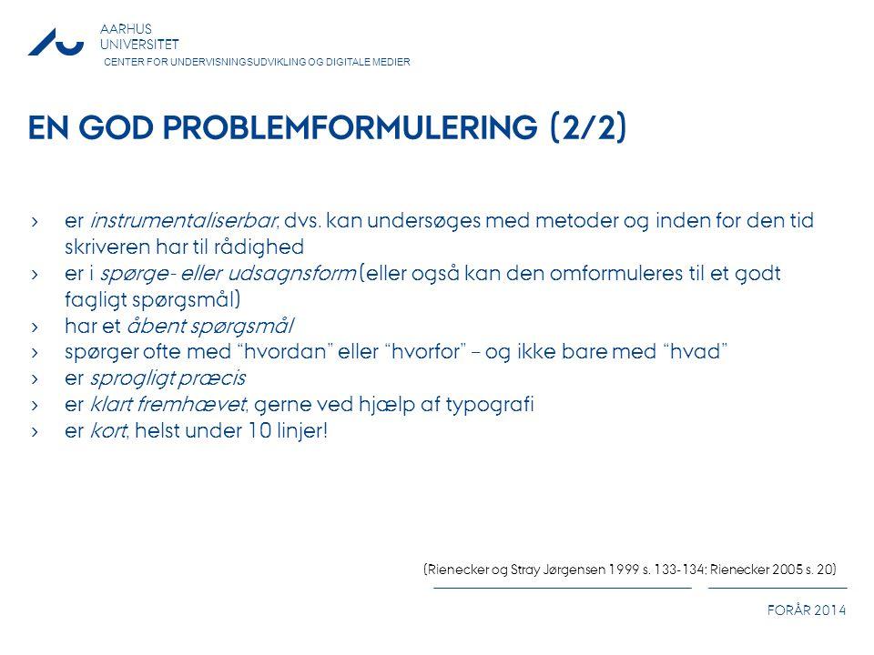 En god problemformulering (2/2)