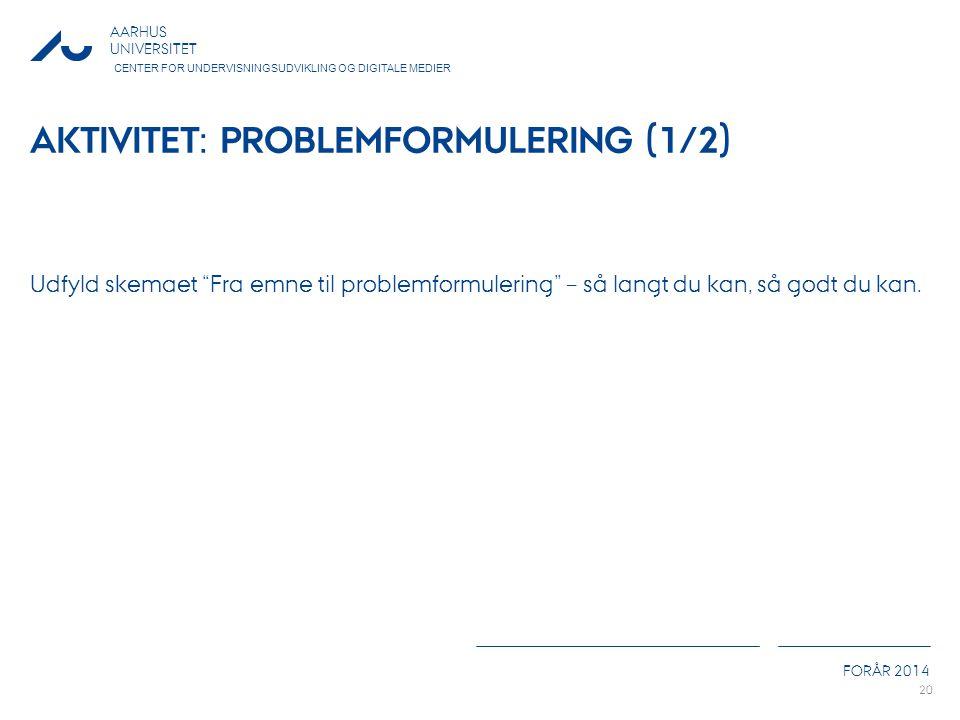 Aktivitet: Problemformulering (1/2)