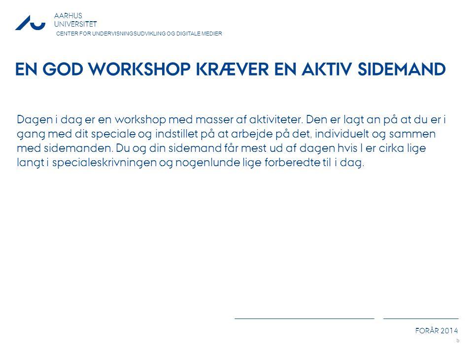 En god workshop kræver en aktiv sidemand