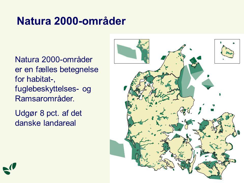 Natura 2000-områder Natura 2000-områder er en fælles betegnelse for habitat-, fuglebeskyttelses- og Ramsarområder.