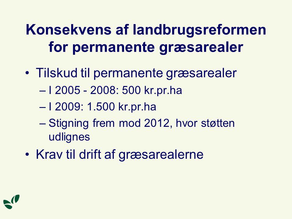Konsekvens af landbrugsreformen for permanente græsarealer