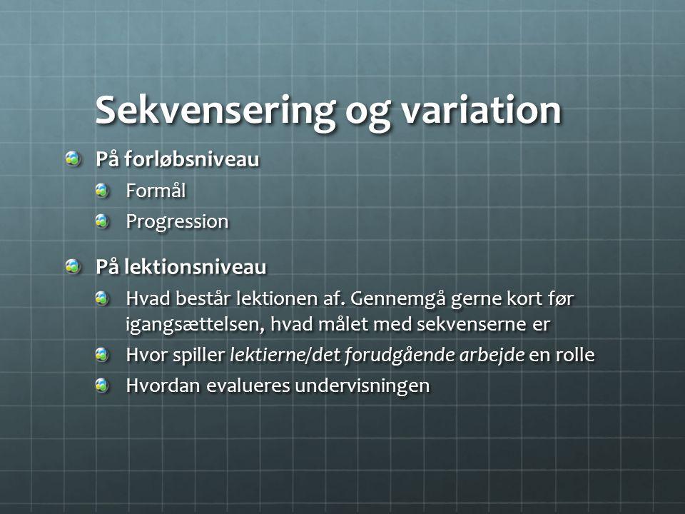 Sekvensering og variation