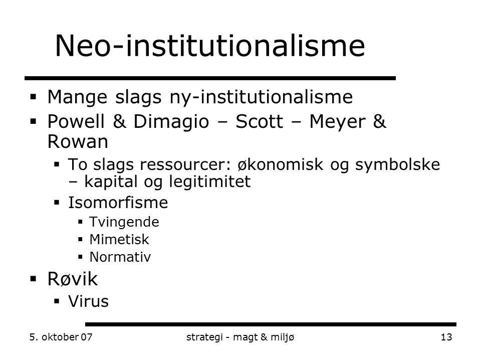 Neo-institutionalisme
