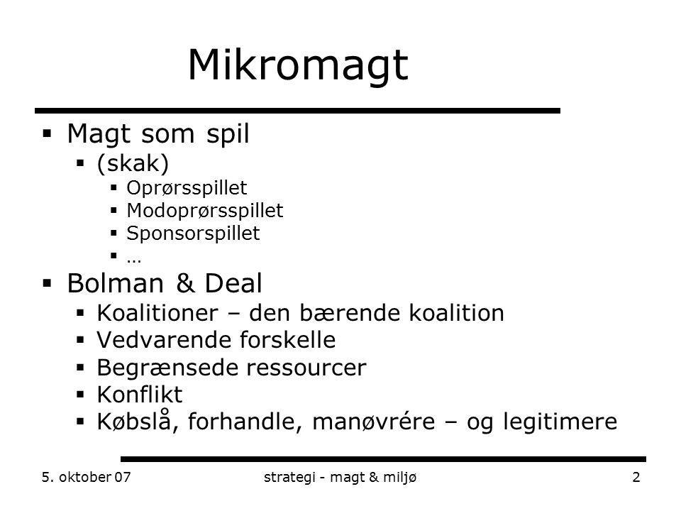 Mikromagt Magt som spil Bolman & Deal (skak)