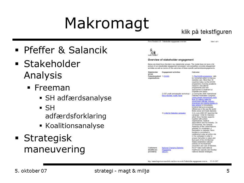 Makromagt Pfeffer & Salancik Stakeholder Analysis