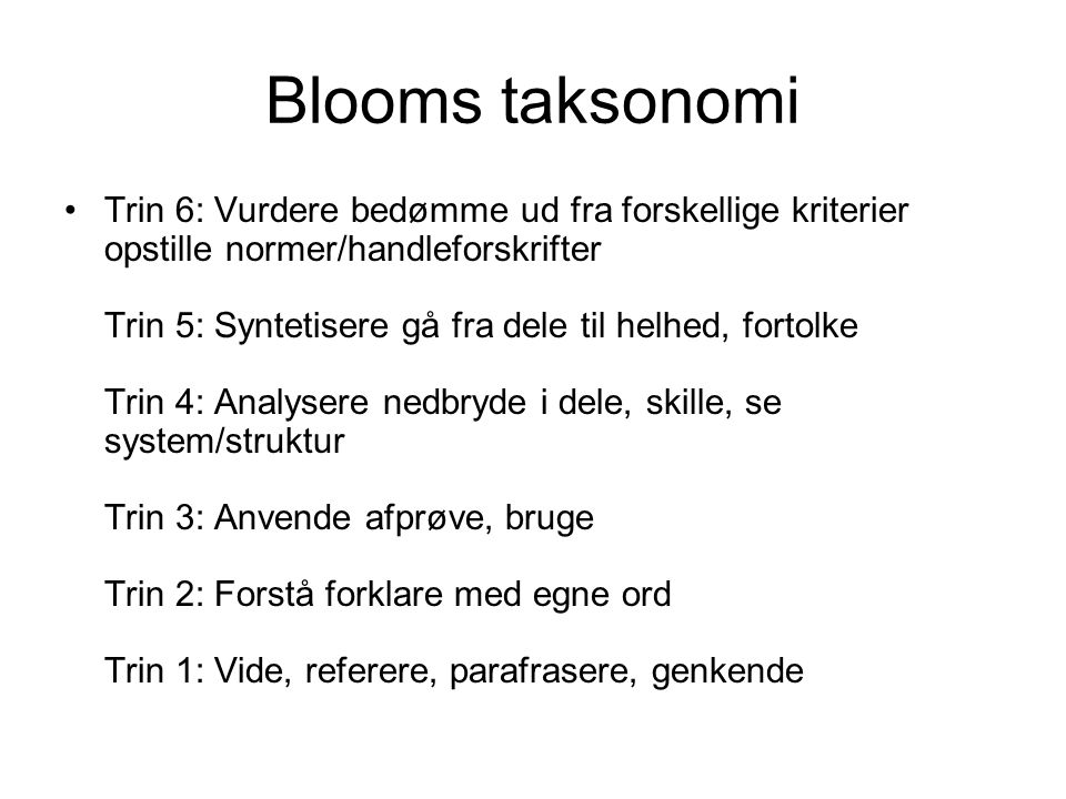Blooms taksonomi