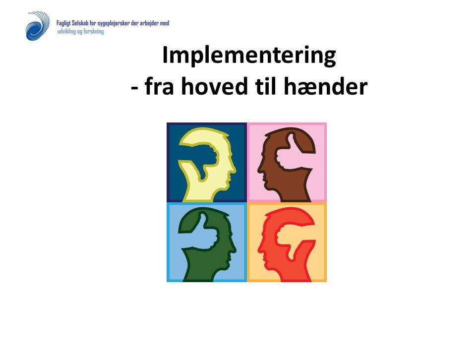 Implementering - fra hoved til hænder