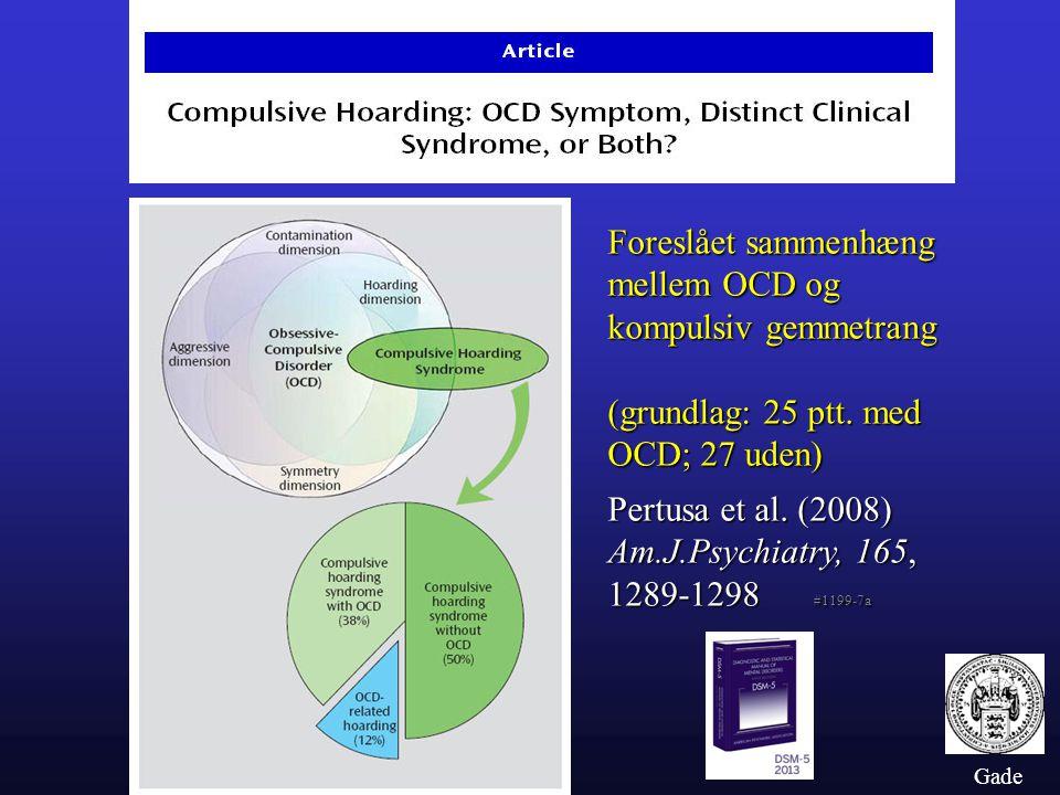 Foreslået sammenhæng mellem OCD og kompulsiv gemmetrang