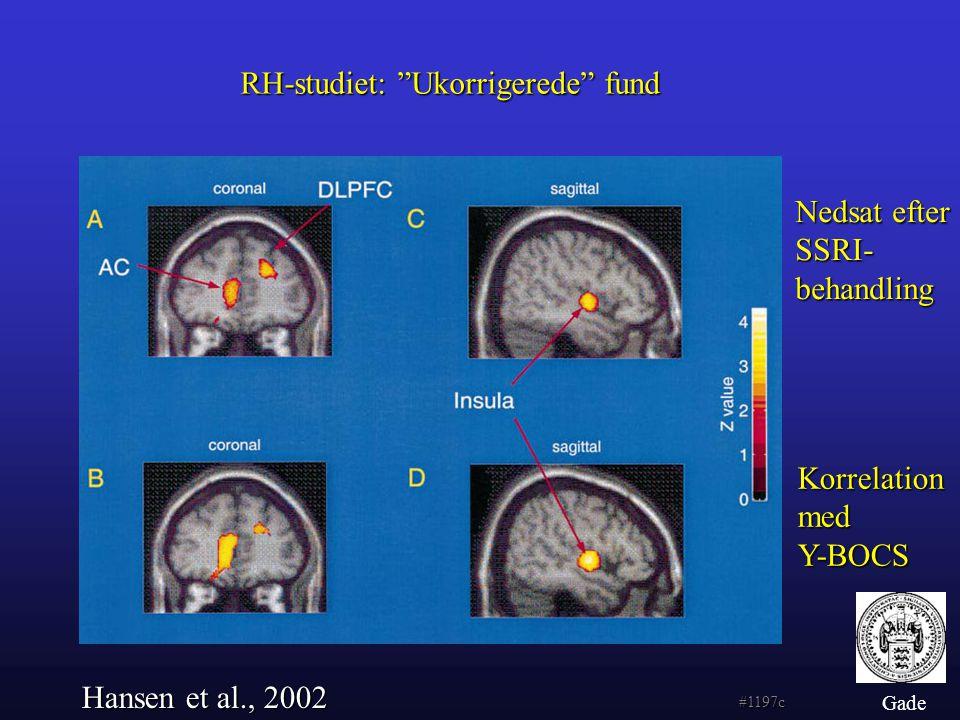 RH-studiet: Ukorrigerede fund