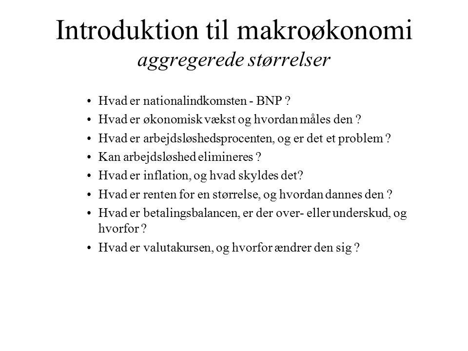 Introduktion til makroøkonomi aggregerede størrelser