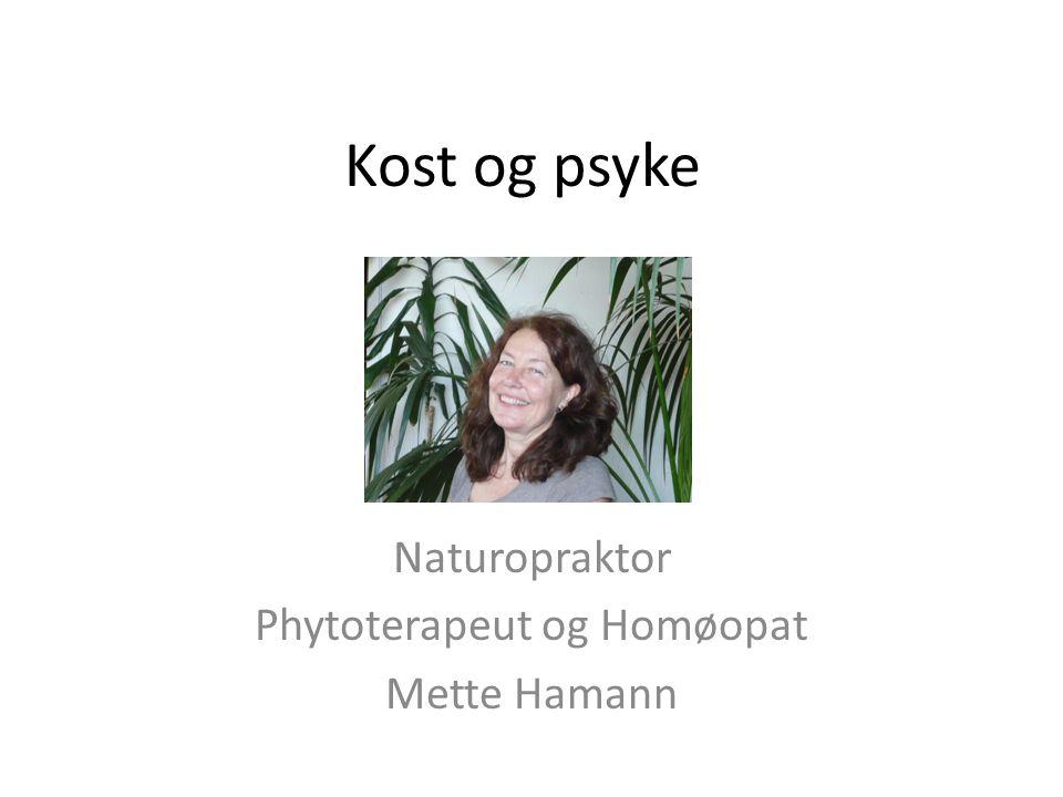 Naturopraktor Phytoterapeut og Homøopat Mette Hamann