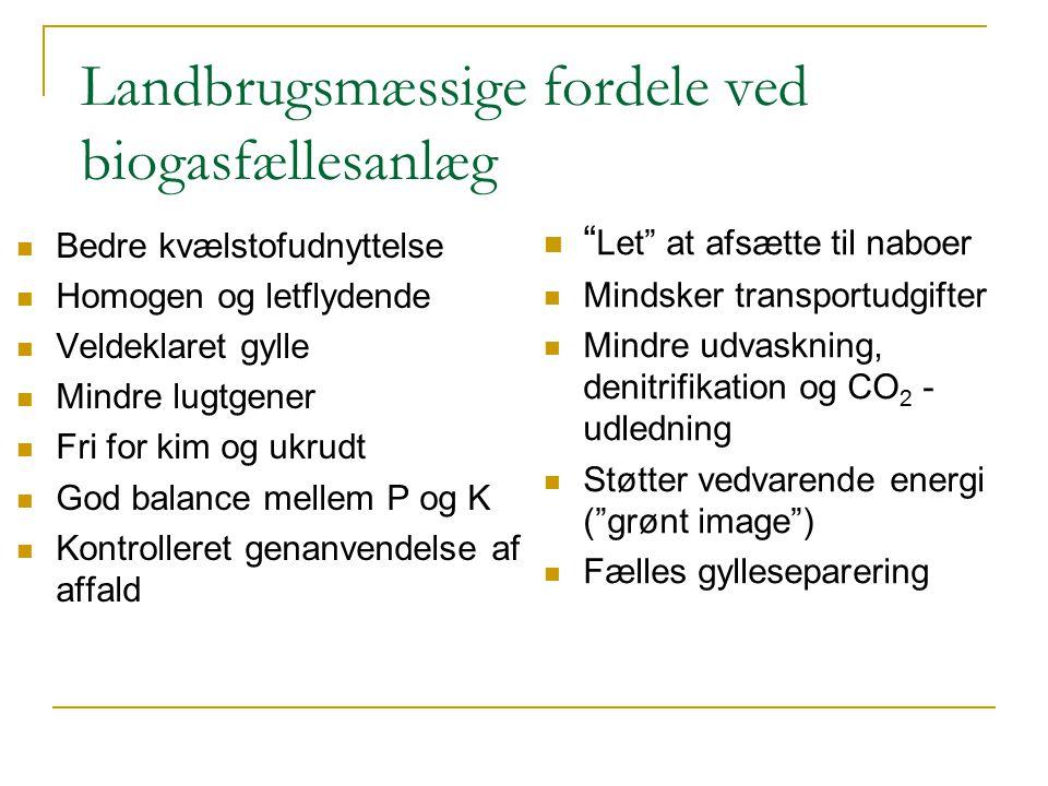 Landbrugsmæssige fordele ved biogasfællesanlæg