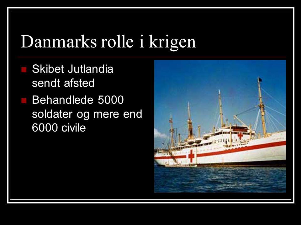 Danmarks rolle i krigen