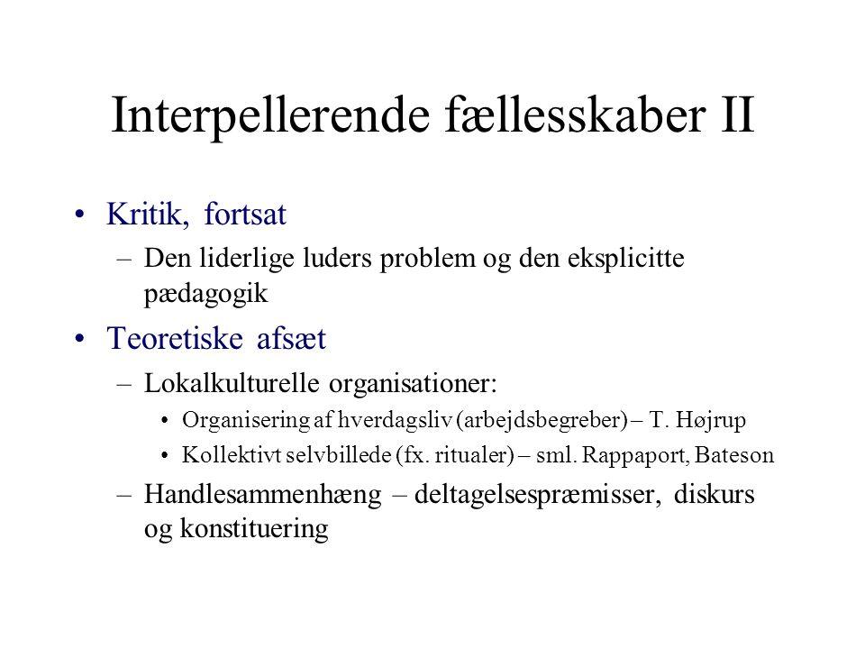 Interpellerende fællesskaber II