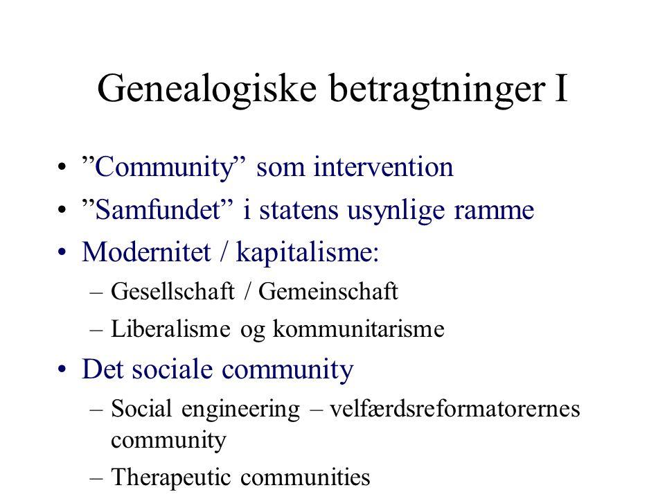 Genealogiske betragtninger I