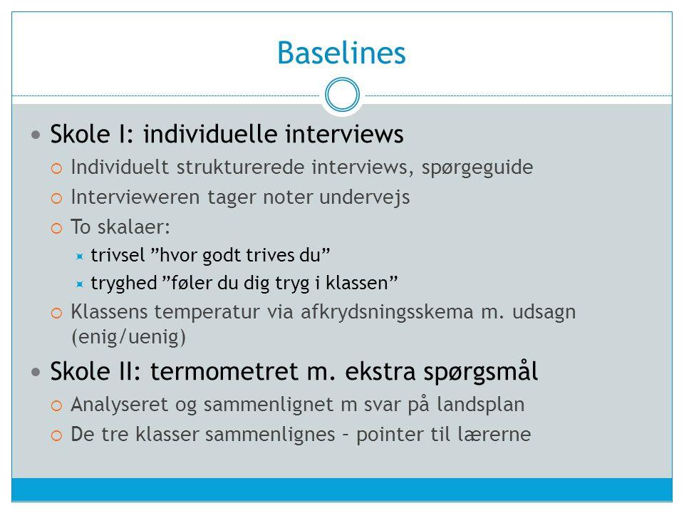 Baselines Skole I: individuelle interviews