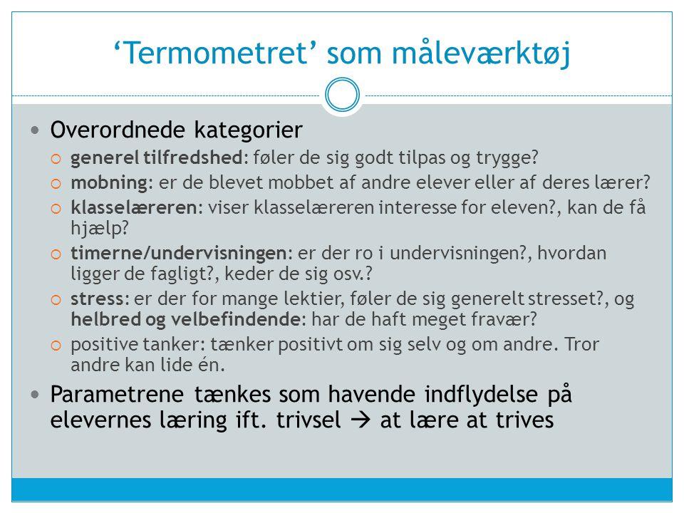 'Termometret' som måleværktøj