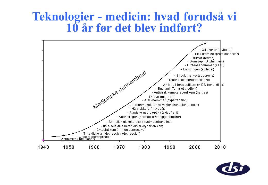 Teknologier - medicin: hvad forudså vi