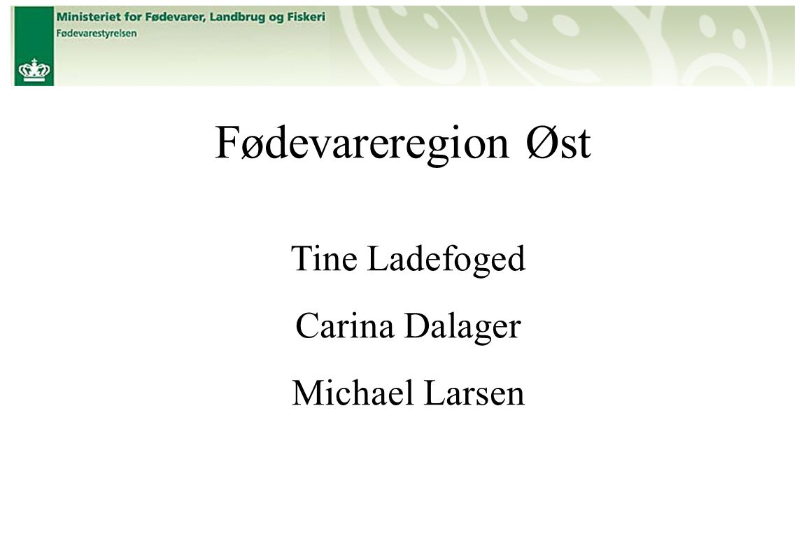 Fødevareregion Øst Tine Ladefoged Carina Dalager Michael Larsen