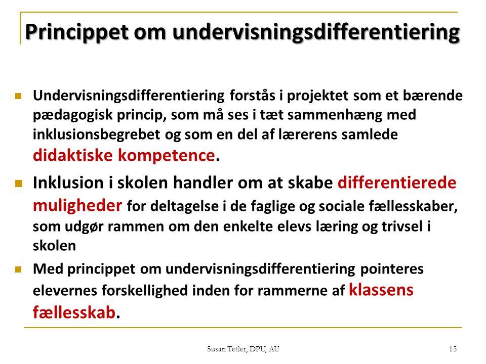 Princippet om undervisningsdifferentiering