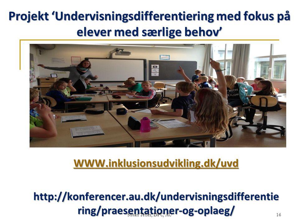 Projekt 'Undervisningsdifferentiering med fokus på elever med særlige behov'