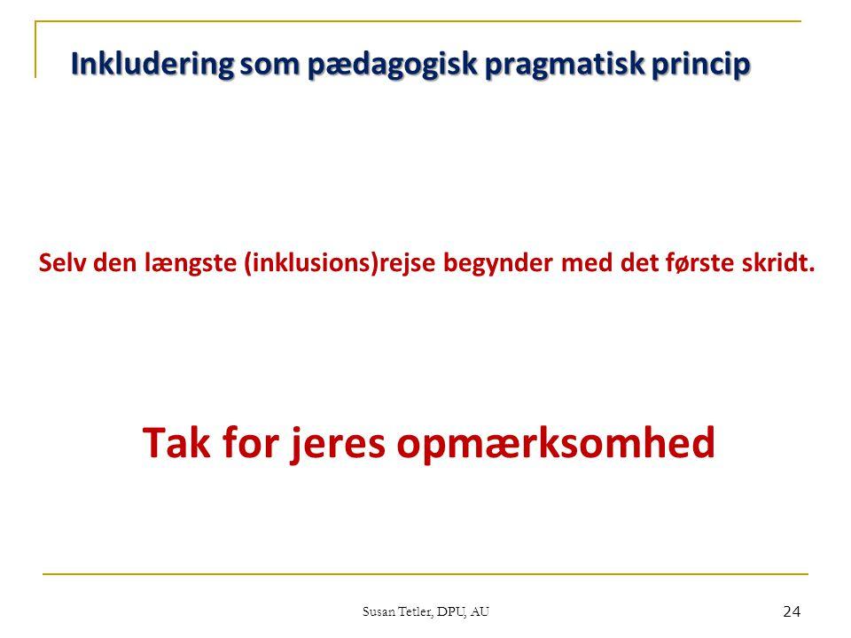 Inkludering som pædagogisk pragmatisk princip