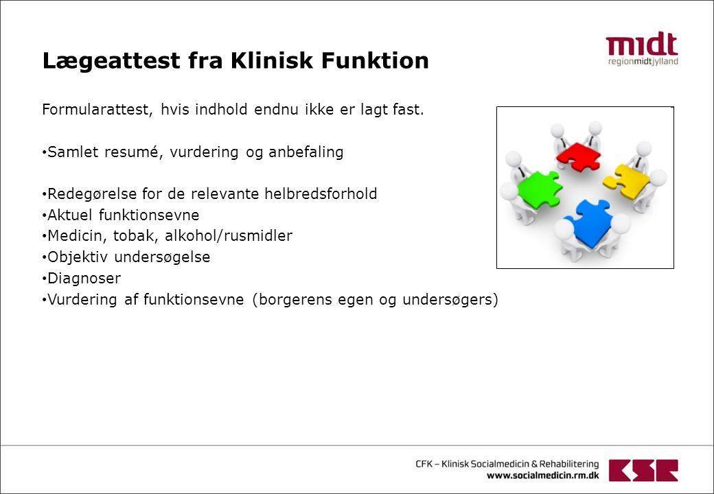 Lægeattest fra Klinisk Funktion